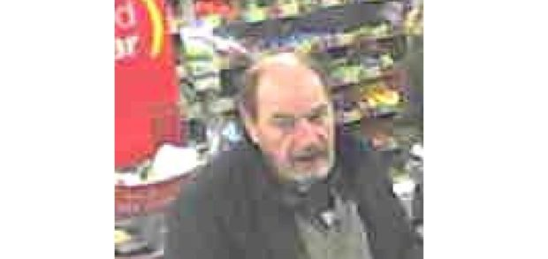 Images have been released of Alan Morrison in a McColl's store in Buckie.