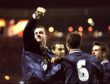 Don Hutchison #10 celebrates his 39th minute goal for Scotland during the Euro 2000 play-off second leg match against England at Wembley Stadium. Picture by Ben Radford/Allsport