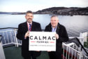 CalMac's director of Community and Stakeholder Engagement, Brian Fulton launches the new fund with chairman of the Community Board, Angus Campbell