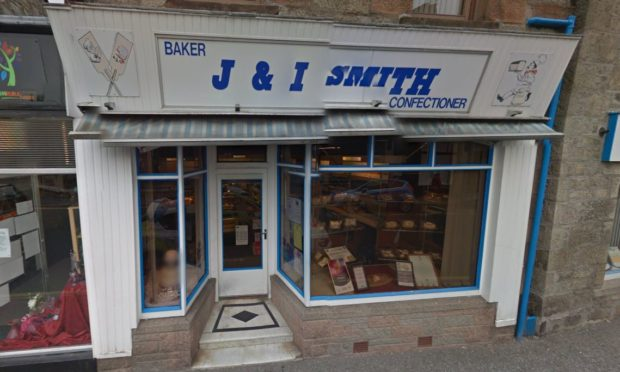J and I Smith bakery in Huntly has closed.