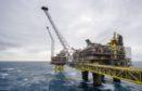 An offshore platform in the Oseberg North Sea oil field 140kms from Bergen, Norway. Photographer: Kristian Helgesen
