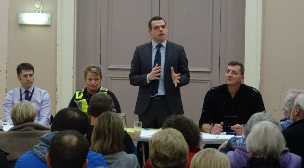 Moray MP Douglas Ross chaired the meeting alongside representatives from the council, police and fire service.