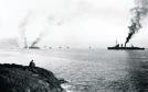 SMS Emden, Frankfurt and Bremse entering Scapa Flow.