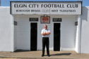 Elgin City chairman Graham Tatters at Borough Briggs.