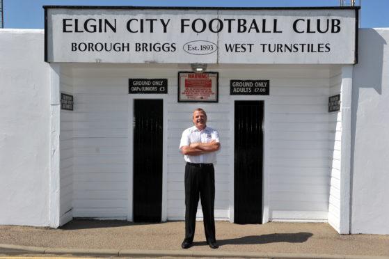 Elgin City chairman Graham Tatters at Borough Briggs.
