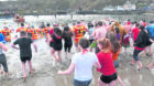 Stonehaven's 2019 Nippy Dip in aid of the RNLI. Ready to go.