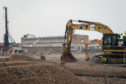 Construction is already underway for the replacement for Lossiemouth High School.