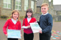 New Pitsligo Primary School pupils (l to r) Evie Smith, Lexie McGregor and Jake Adams