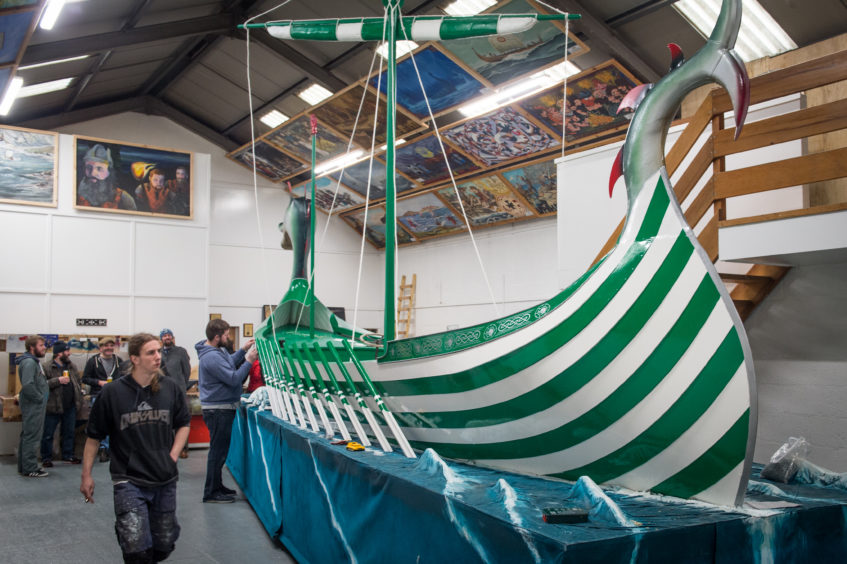 Up Helly Aa boat under construction