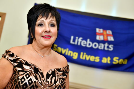 Audrey Wood who with her annual Ladies Glamour Glitz and Bubbles afternoon has raised £200,000 to date for the RNLI.      Picture by Kami Thomson    03-03-18