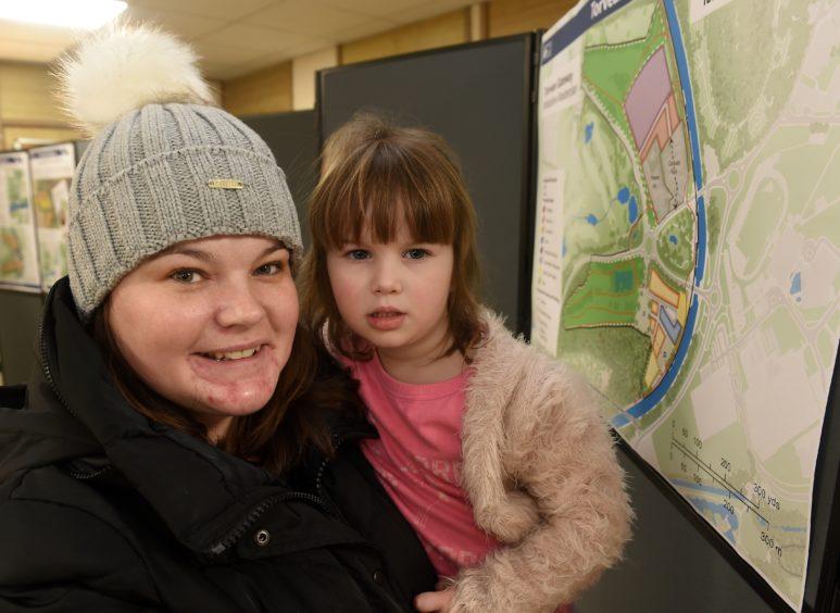 Visitors: childminder Louise Morris and Bella Macleod.