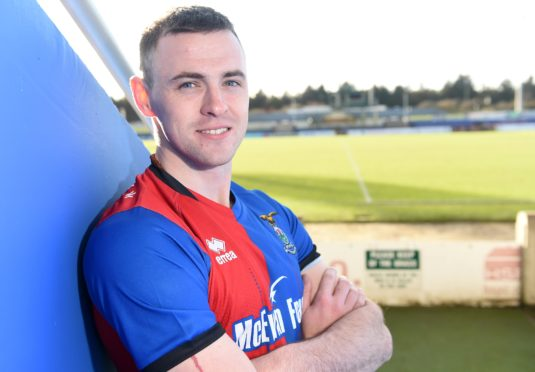 Picture by SANDY McCOOK 28th January '19 New Caley Thistle signing, Darren McCauley.