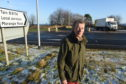 Campaigner Michael Baird at the northern junction from the A9 to Tain. Picture by Sandy McCook.