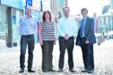 Picture of (L-R) John Pascoe, Katrina Allan, John Cameron, Iain Sutherland.