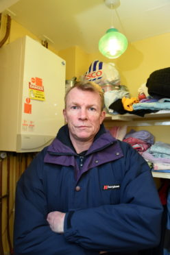 Ricki Taylor is furious after his wife and two young children have been struggling with no boiler at their Portsoy. The house is rented from Sanctuary Housing, who condemned the boiler following an inspection.