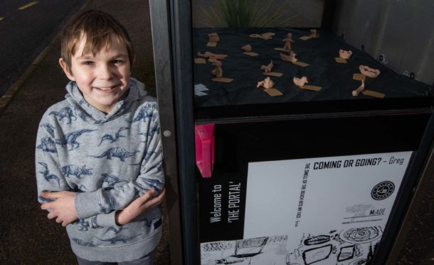 Louie Avenell, 10, helped with the exhibition.