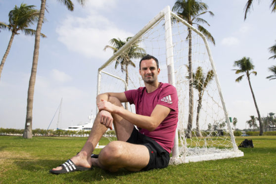 Aberdeen goalkeeper Joe Lewis in Dubai.