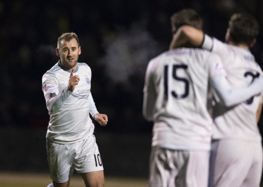 Niall McGinn opened the scoring for Aberdeen on Tuesday night.