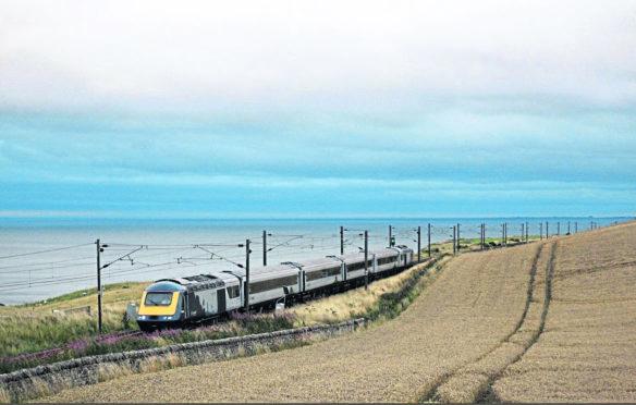 An upgraded Inter7City train that runs between Edinburgh and Aberdeen