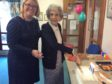 Hanover Scotland board member Jo Rogers and West Park Court resident Grace Gates.