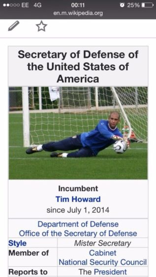 An editor gave Tim Howard the credit he deserved after breaking the record for the most saved goals in a World Cup game