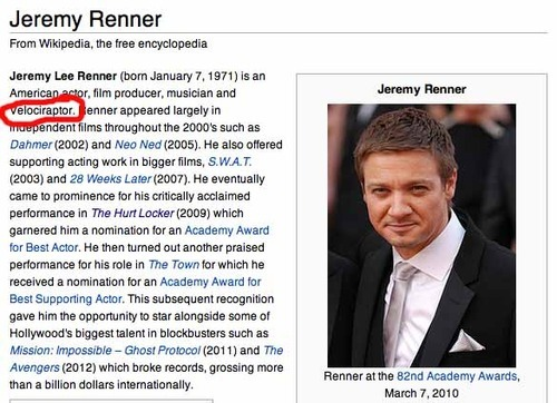 One person decided to share a hidden talent of Jeremy Renner