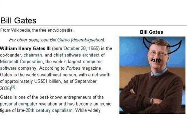 William Henry Gates III fell victim to online trolls in 2006