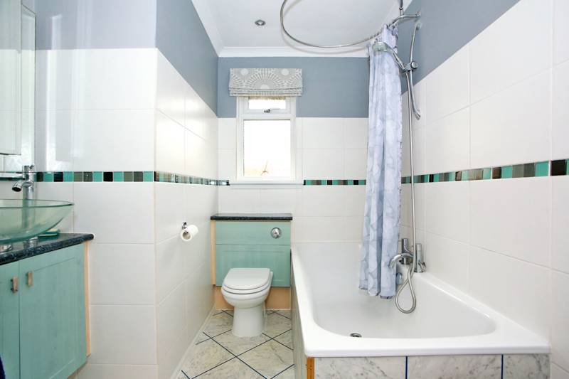 Family Bathroom: Fitted with three-piece suite