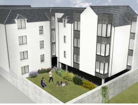 Artists impression of flats development on Maberly Street Aberdeen