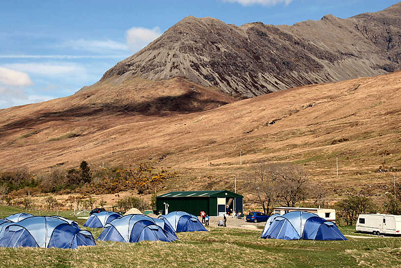 Glenbrittle: Recently nominated as the number one campsite by The Daily Telegraph, the Glenbrittle campsite is an ideal base camp for rock climbers