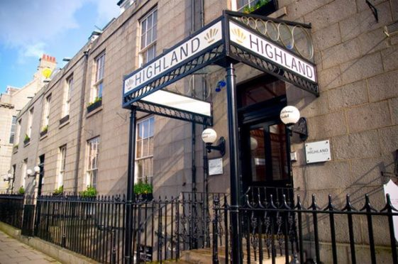 The Highland Hotel in Aberdeen.