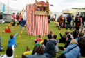 A Punch and Judy booth, like the one which was left behind at an Aberdeen hotel