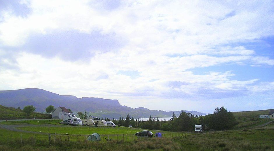 Staffin: The Staffin site is set amongst some of the most beautiful scenery that the Isle of Skye has to offer.