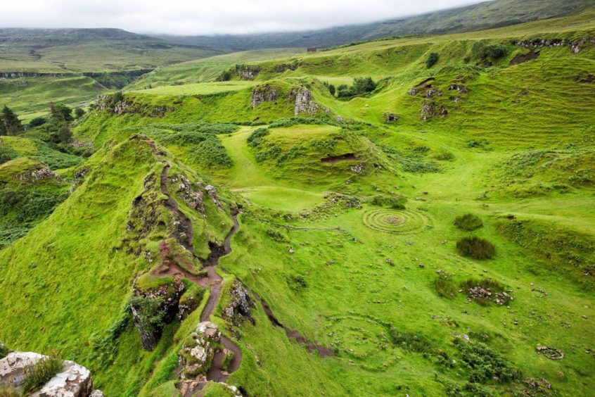 Fairy Glen: Legend says these smalls hills that were caused by a landslip are home to the magical Skye fairies
