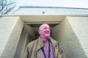 Councillor Derek Ross outside the toilets in Craigellachie in Moray. Picture by Jason Hedges.