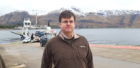 Councillor Andrew Baxter at the Corran Ferry