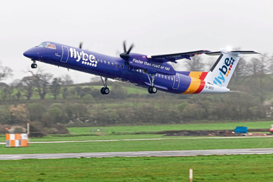 Flybe purple plane Photo by Theo Moye