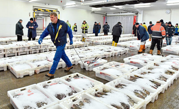 Fraserburgh Harbour Fish Market.