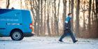 Scottish Gas winter van scene  Handout