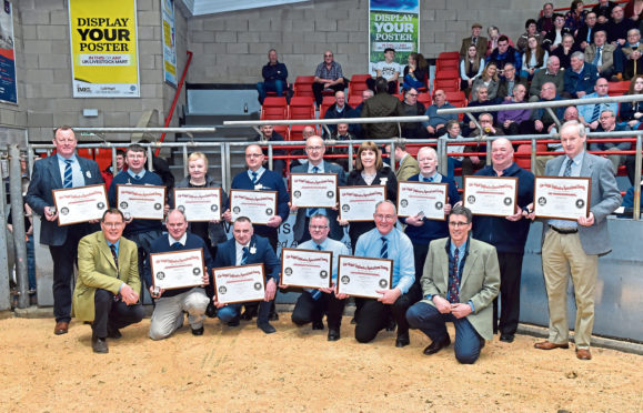 The long service award winners with RNAS directors.