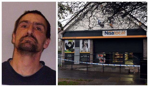 Joseph Bissett, left, and the Nisa, right, where the incident happened.