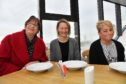 Lighthouse museum manager Lynda McGuigan (L) with Broch Soup organisers Pamela Neri and Tracey Buchan.