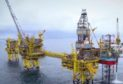The footage shows the construction and installation of the huge North Sea project