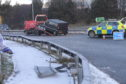 The scene on the A96 this morning.