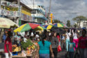The Stabroek Market in Georgetown, Guyana.
