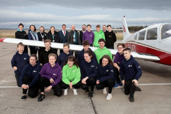 Highland Aviation hosted a group of Highland-based youngsters who are part of the High Life Highland Youth Leadership Programme