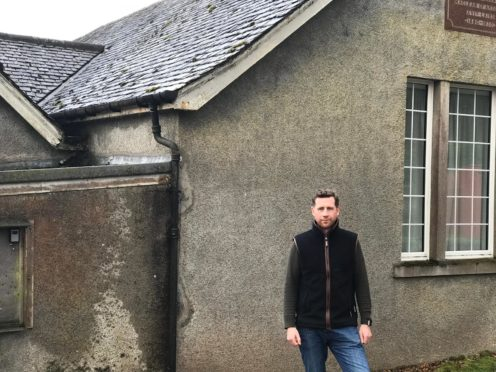 Ewen Maclean at the village hall in Ardgour who are desperate for a contractor to do work on their toilets.