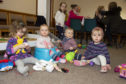 Children playing during a Point Parent and Toddler get-together.