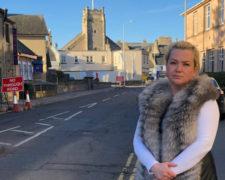 Maria McLean on Greyfriars Street, Elgin