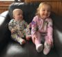 Isla Murray with baby sister Sarah.
